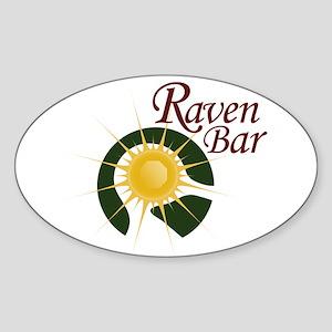 Raven Bar Oval Sticker