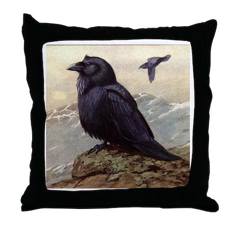 RAVEN Crow ART Throw Pillow