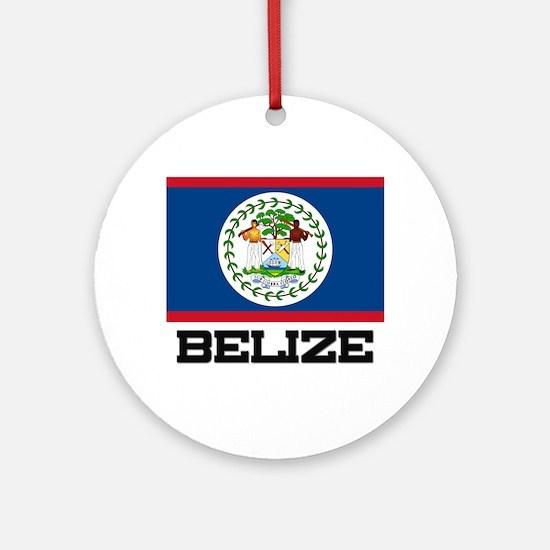 Belize Flag Ornament (Round)