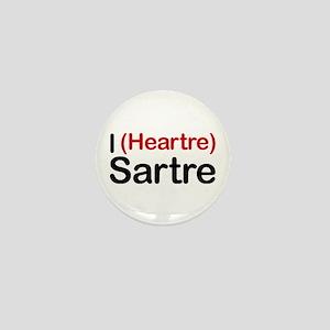 I Heartre Sartre Mini Button
