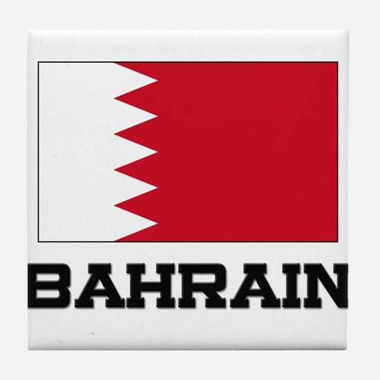 Bahrain Flag Tile Coaster