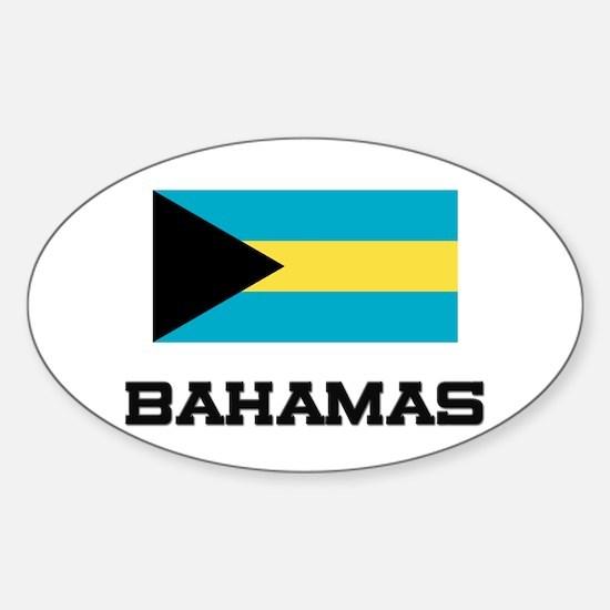 Bahamas Flag Oval Decal