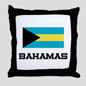 Bahamas Flag Throw Pillow