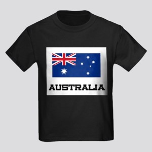 Australia Flag Kids Dark T-Shirt