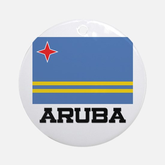 Aruba Flag Ornament (Round)