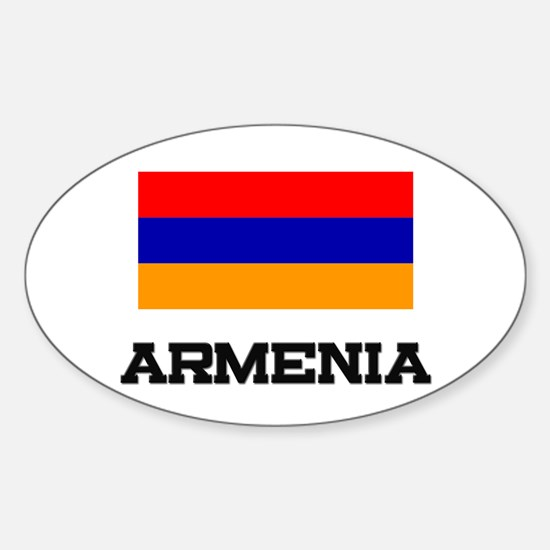 Armenia Flag Oval Decal
