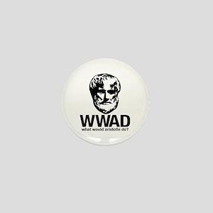 WWAD - Waht would Aristotle do? Mini Button