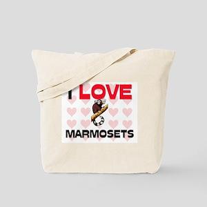 I Love Marmosets Tote Bag