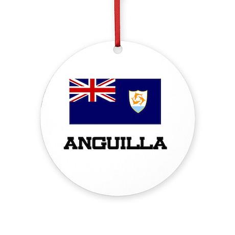 Anguilla Flag Ornament (Round)