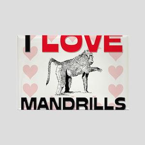 I Love Mandrills Rectangle Magnet