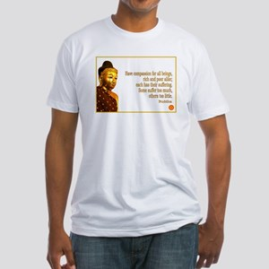Buddha Buddhism Quotes Fitted T-Shirt