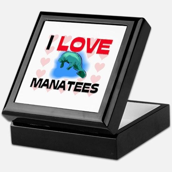 I Love Manatees Keepsake Box