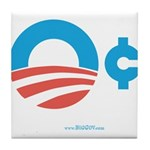 Obama Zero Cents Tile Coaster