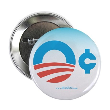 "Obama Zero Cents 2.25"" Button (100 pack)"