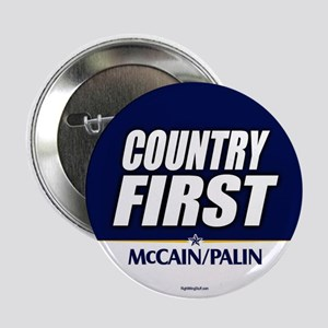 """McCain Palin Country First 2.25"""" Button (10 pack)"""