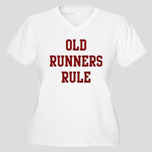 Old Runners Rule Women's Plus Size V-Neck T-Shirt
