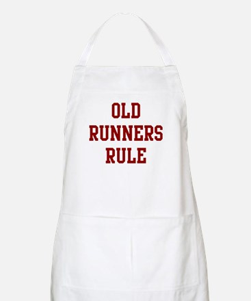 Old Runners Rule BBQ Apron
