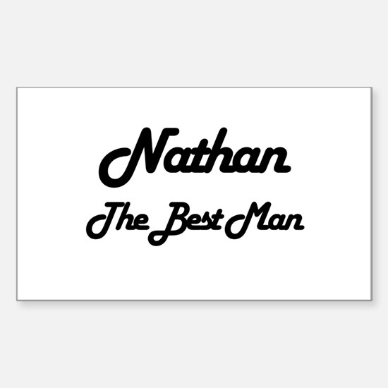 Nathan - The Best Man Rectangle Decal