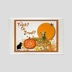 Halloween Greyhound Rectangle Magnet