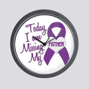 Missing My Father 1 PURPLE Wall Clock