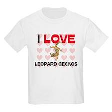 I Love Leopard Geckos Kids Light T-Shirt