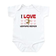 I Love Leopard Geckos Infant Bodysuit