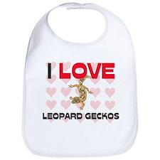 I Love Leopard Geckos Bib