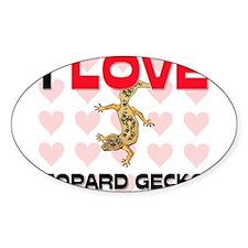 I Love Leopard Geckos Oval Sticker
