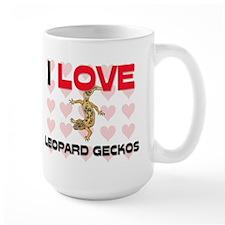 I Love Leopard Geckos Large Mug