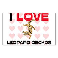 I Love Leopard Geckos Rectangle Sticker
