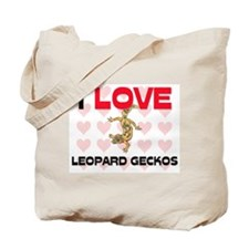 I Love Leopard Geckos Tote Bag