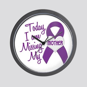 Missing My Mother 1 PURPLE Wall Clock