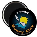 I Read Every Day - Magnet Magnets
