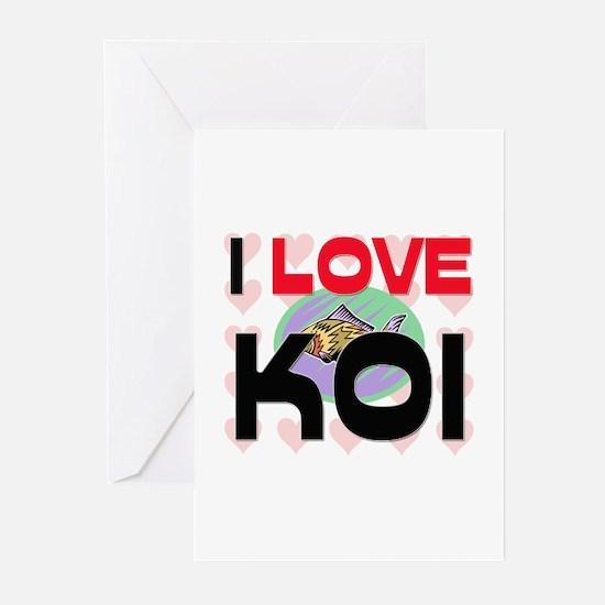 I Love Koi Greeting Cards (Pk of 10)