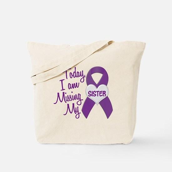 Missing My Sister 1 PURPLE Tote Bag