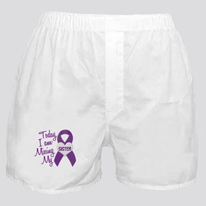 Missing My Sister 1 PURPLE Boxer Shorts