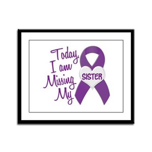Missing My Sister 1 PURPLE Framed Panel Print