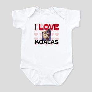 I Love Koalas Infant Bodysuit