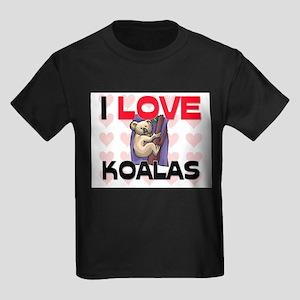 I Love Koalas Kids Dark T-Shirt