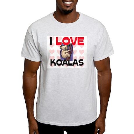 I Love Koalas Light T-Shirt