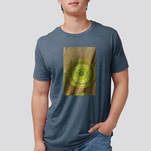 green Depression glass plate in garden T-Shirt