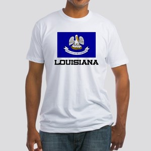 Louisiana Flag Fitted T-Shirt