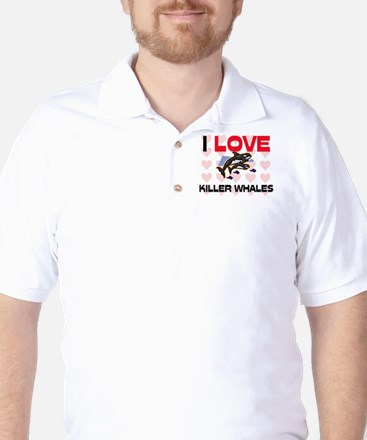 I Love Killer Whales Golf Shirt