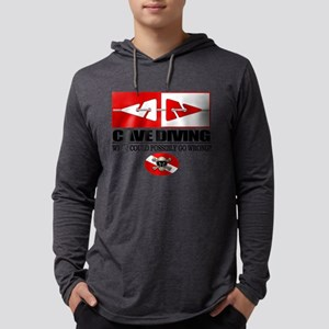 Cave Diving (Line Markers) Long Sleeve T-Shirt