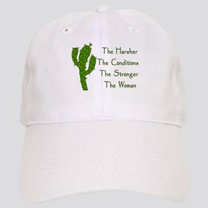 Harsh Conditions Strong Woman Cap