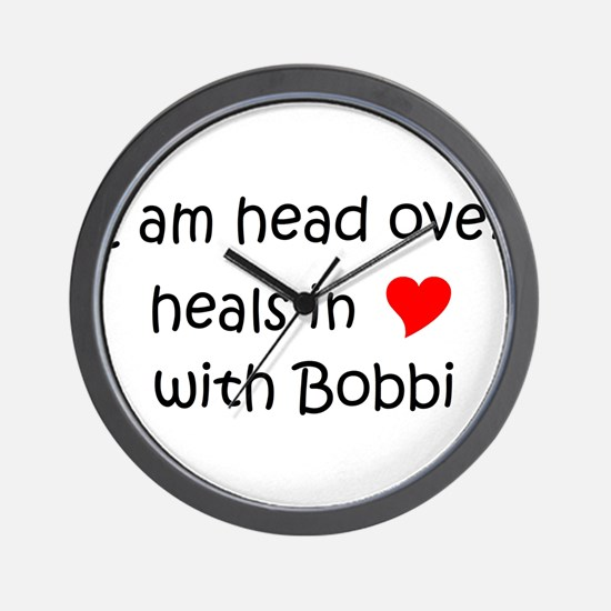 Cute I love bobbi Wall Clock