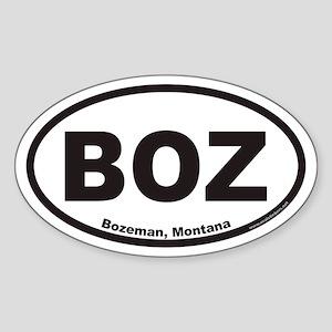 Bozeman BOZ Euro Oval Sticker