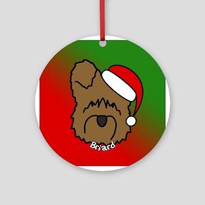 Cartoon Briard Christmas Ornament