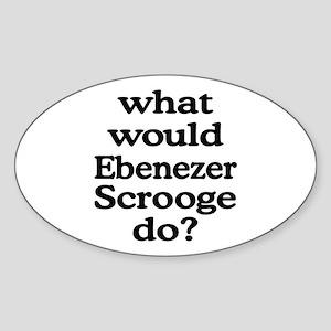 Ebenezer Scrooge Oval Sticker