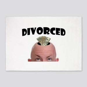 DIVORCED 5'x7'Area Rug